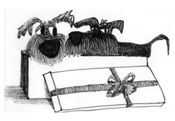 Box of Dogs illustration