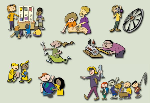 History Kids character design