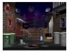 3-D Animated Alleyway concept art