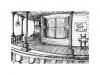 Castle Arcana porch illustration