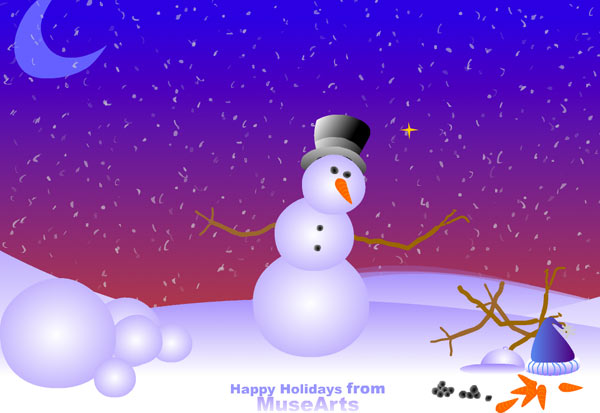 Make a Snowman holiday card