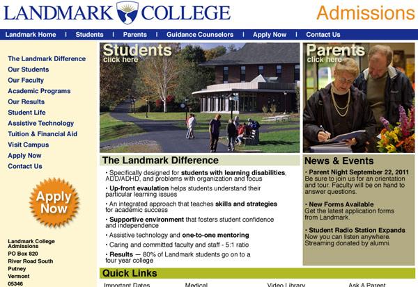 Landmark College Admissions