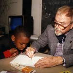 Chuck Jones and David Cook at Animation Lab in DC