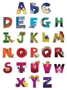 Alphabet Cats Poster