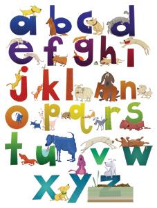 Dog Alphabet Poster